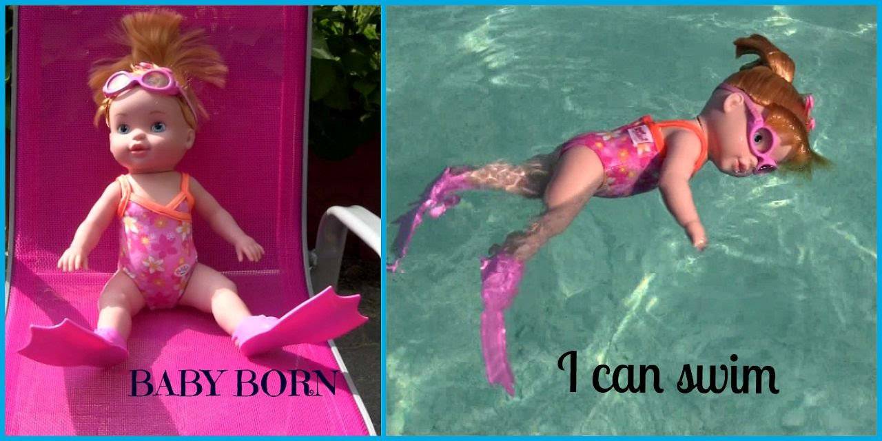 My Little Baby Born I Can Swim Schwimm Puppe Zapf