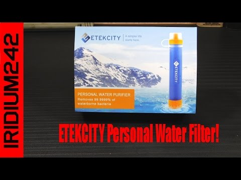 Etekcity Portable Emergency Camping Water Filter