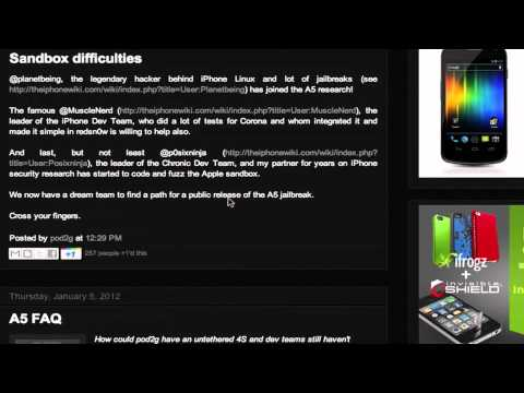 iOS 5.0.1 A5 Untethered Jailbreak Update #6: Famous Jailbreak Hackers Join Research