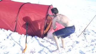 Henry Evans - Antarctica New Years Day 2013 snow shower, 40 miles from the South Pole......