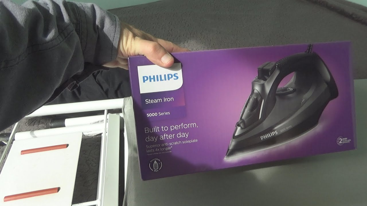 Philips DST5040 Steam Iron Unboxing and Test