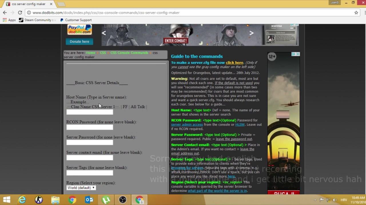 Скачать autoexec.cfg для сервера css топ 100 сайтов с лучшей музыкой мира