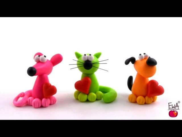 LET'S CLAY. How to make polymer clay PETS easily.