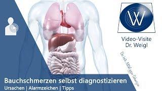 Bauchschmerzen Ursachen + Alarmzeichen // Bauchschmerzen rechts unten, links, oberbauch // Tipps