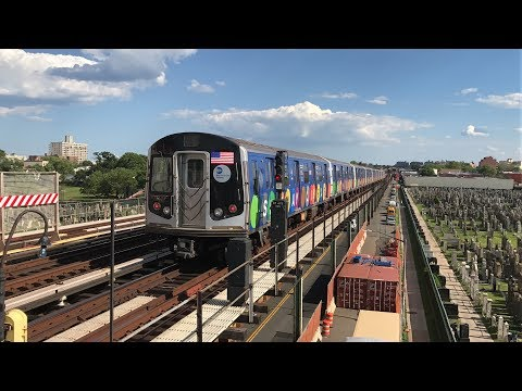 "NYC Subway HD 60fps: IND Culver Line G & F Train Action w/ R160 ""Subway Library"" F Train (6/9/17)"
