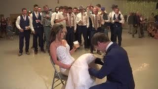 Bouquet and Garter Toss   Wedding Dress