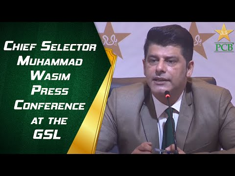 LIVE - Chief Selector Muhammad Wasim Press Conference at the