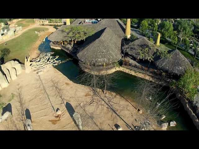Aerial view of Bioparc (Valencia Zoo) with my Hexacopter