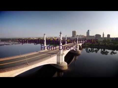 Springfield Massachusetts from Drone