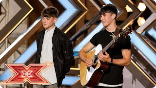 Brothers Sean and Conor Price wow with Along the Watchtower Auditions Week 3 The X Factor 2017