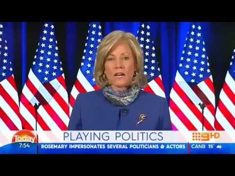 Hillary Clinton Impersonator Rosemary Watson on Today Show Australia