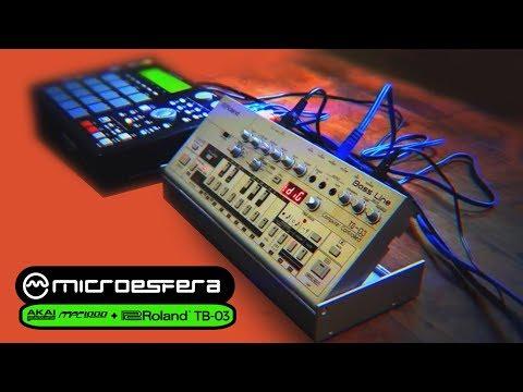 DEMO ROLAND TB03 + AKAI MPC1000 - Tech house HD 2017 (Microesfera live demo)