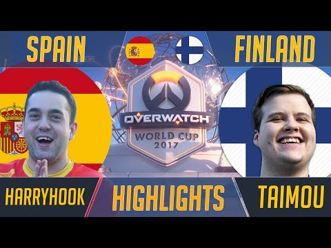 Finland vs Spain - EnVyUs Reunion: Taimou Takes On Harryhook - Overwatch World Cup 2017 Highlights