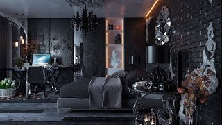 Dark and Dreamy Bedroom Design Ideas