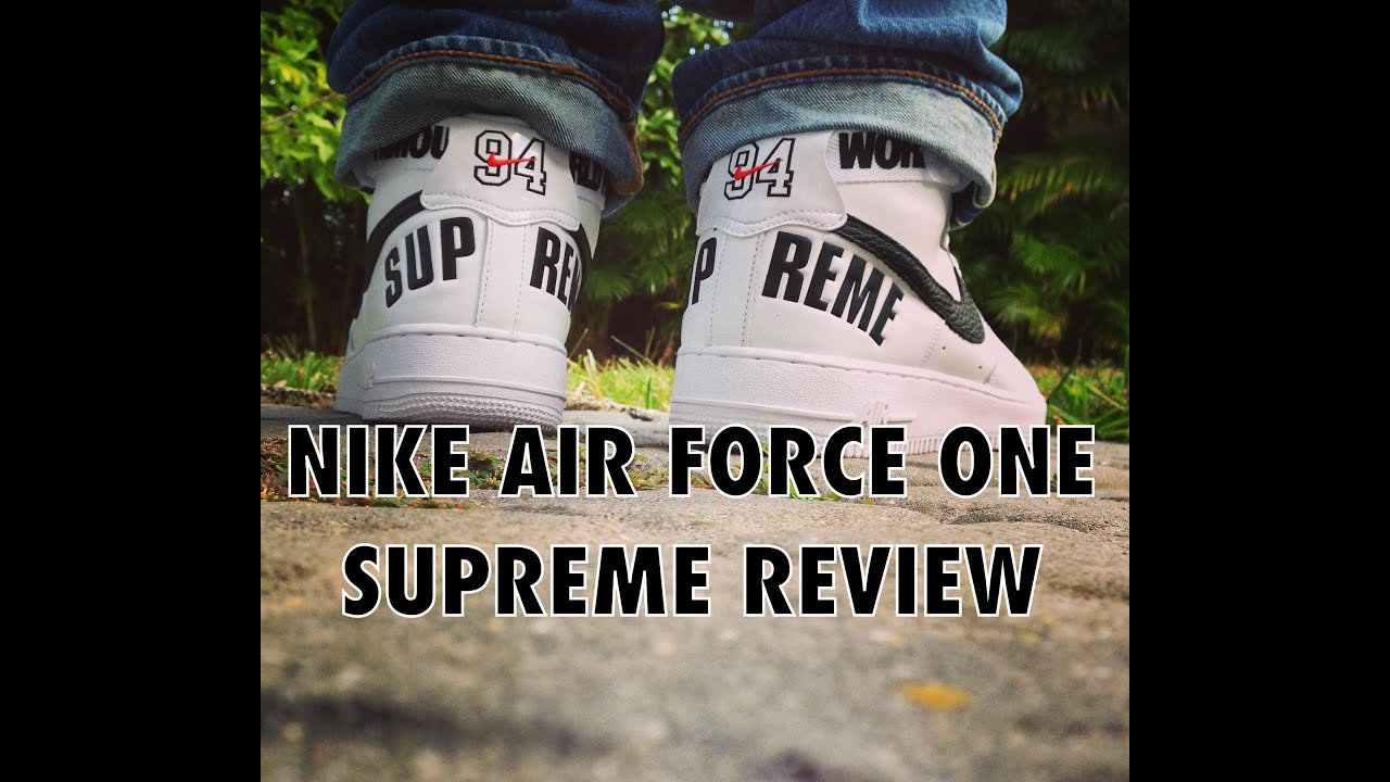 Nike Air Force 1 x Supreme Fall Winter 2014- Review/On Feet
