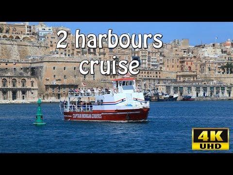 Sightseeing in Malta: 2 Harbours cruise (4K UHD)
