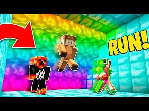 Minecraft RAINBOW LAVA RUN! w/ (PRESTONPLAYZ vs UNSPEAKABLEGAMING vs MOOSECRAFT!) #Minecraft