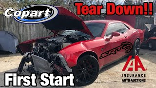 Rebuilding a Wrecked 2015 Challenger Hellcat Part 1