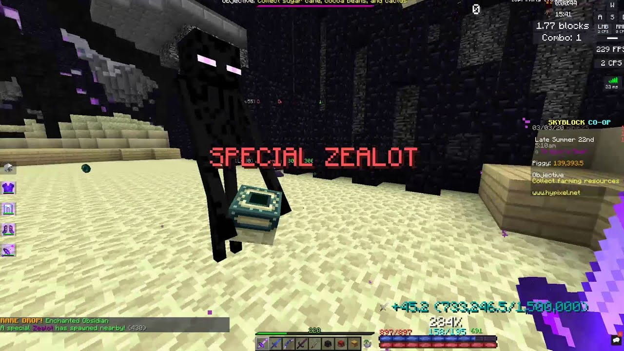 Legendary Enderman Pet In A Private Lobby Hypixel Skyblock Youtube