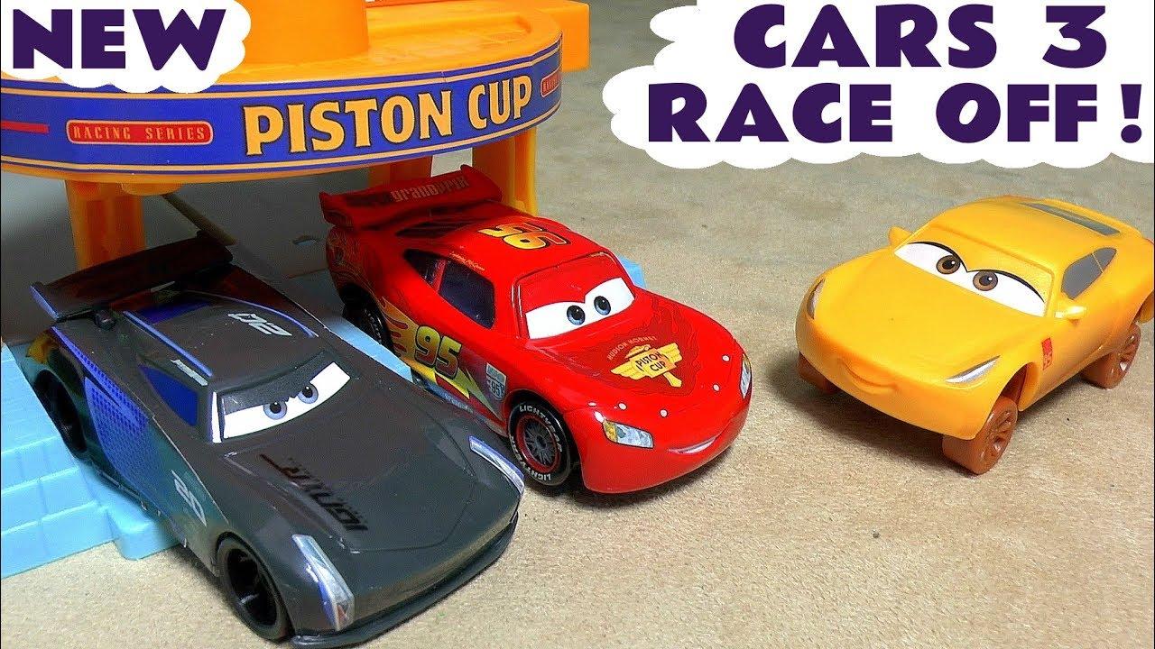 cars 3 mcqueen race off animation toy story for kids with cruz storm batman avengers iron man tt4u