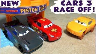 Autos 3 McQueen Race Off animation toy story für Kinder mit Cruz Sturm Batman & Avengers Iron Man TT4U