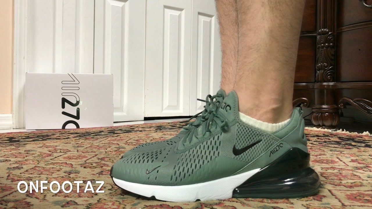 7c3dde3eec Nike Air Max 270 Clay Green On Foot - YouTube
