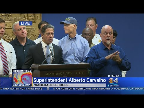 Miami-Dade School Superintendent Alberto Carvalho Discusses Plans For Hurricane Irma
