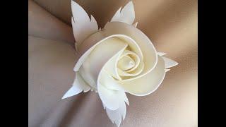 Большие ростовые цветы | Бесплатный мастер-класс бутон розы из изолона | DIY Rosebud