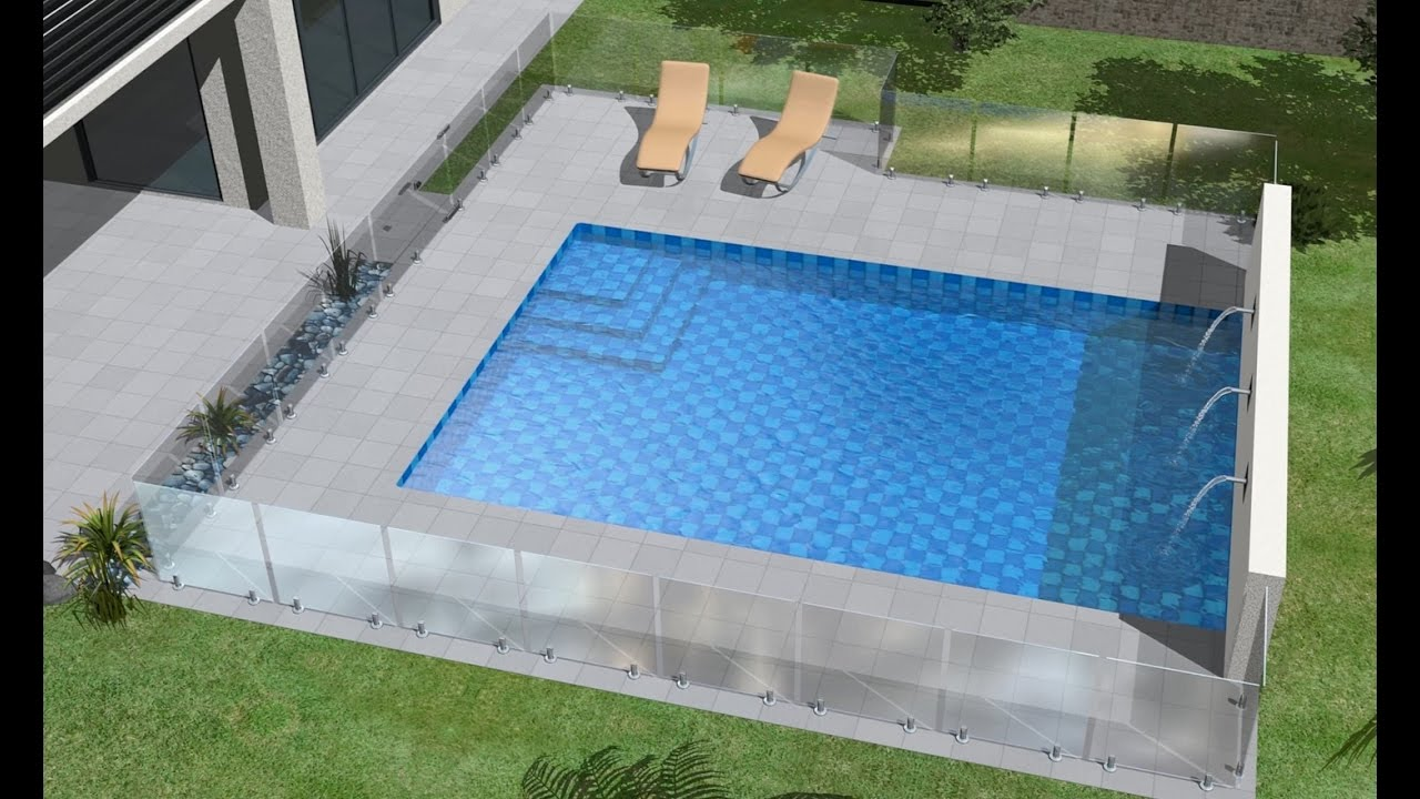 Pool Fence Direct - Frameless Glass Pool Fence Installation - Basemount  Miniposts