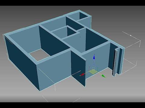 Дизайн интерьера в 3ds Max. Создание плана квартиры и стен