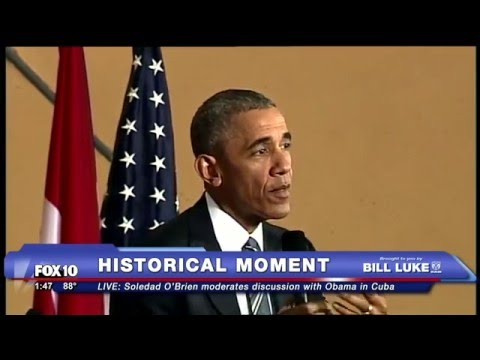 FNN: Obama Speaks to Business People in Cuba, Moderated by Soledad O'Brien - HISTORIC