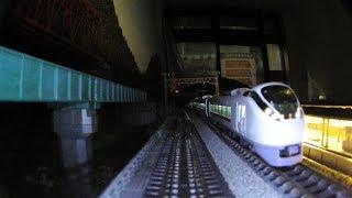 Nゲージ 前面展望 レンタルレイアウト ほぼ国鉄時代のジオラマ 3番線
