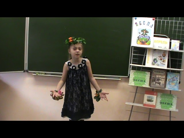 Изображение предпросмотра прочтения – ДарьяКузнецова читает произведение «Весна, весна» В.А.Степанова