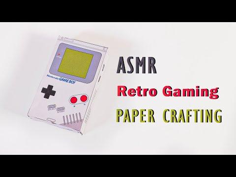 Retro Gaming Papercraft - Relaxing Paper Sounds ASMR