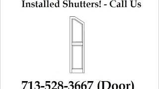 Louvered Window Shutters Installed Houston - 713-528-3667 (door) - Houston Door Solutions