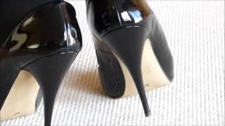 Snapshot 9 Patent Black Stiletto High Heels