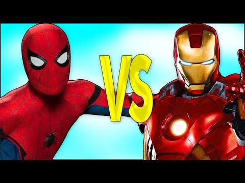 Смотреть онлайн мультфильм человек паук и железный человек