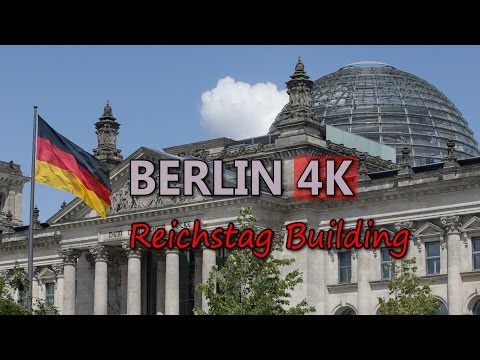 Ultra HD 4K Berlin Travel Reichstag Building German Parliament Germany UHD Video Stock Footage