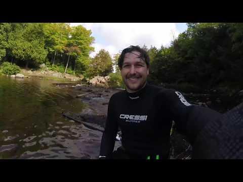 Bass Spearfishing in Meech Lake, Chelsea, Québec