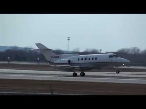 Private Jet - British Aerospace (Hawker Siddeley) HS-125-700A (C-GLBJ) Landing 06R CYUL Montreal