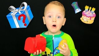DAYA'S SICK! Shopkin Egg Surprises in Magic Mailbox and HIDDEN TOY!