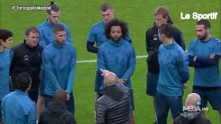 Zidane motive ses joueurs avant le match contre la Juve