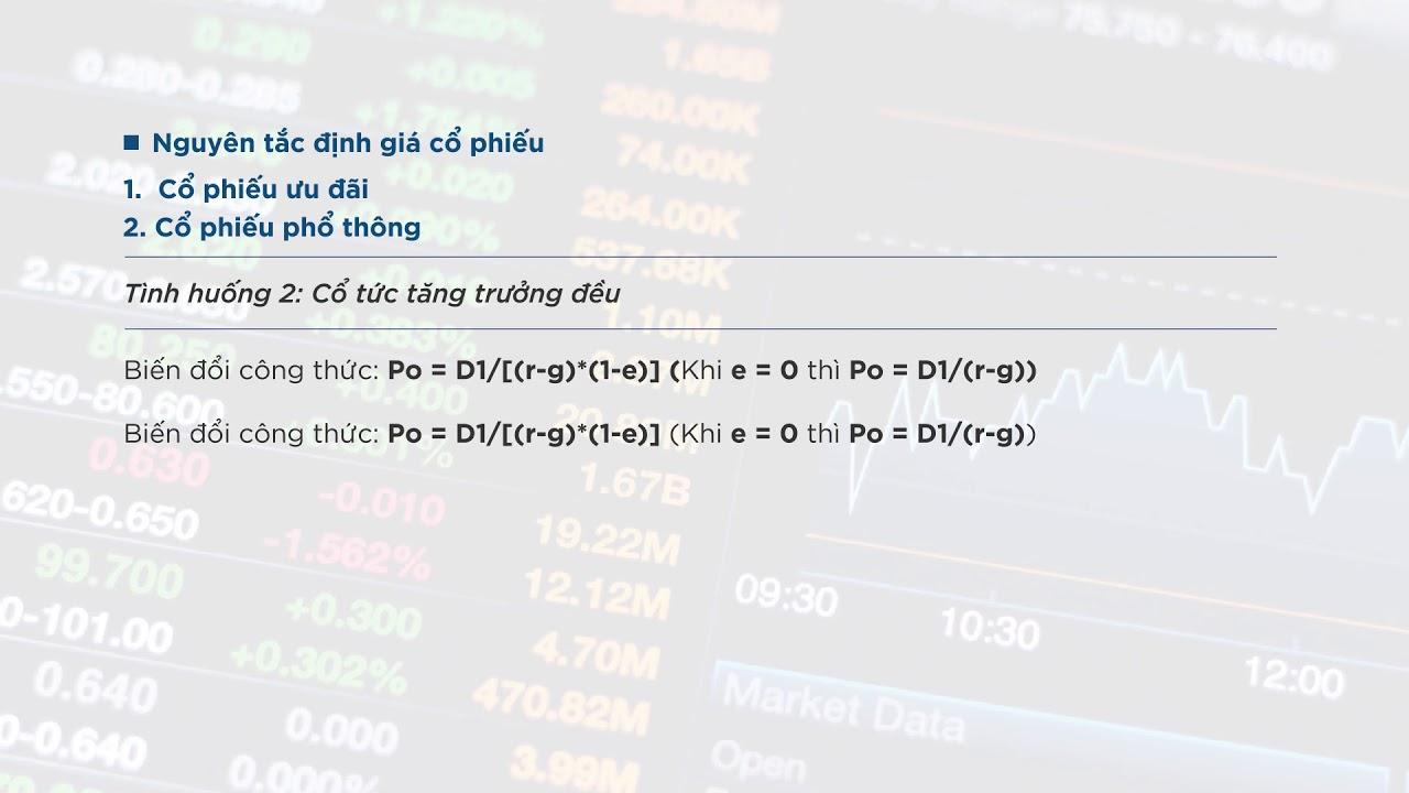 [Ôn thi CPA – Môn Tài chính] Bài tập định giá cổ phiếu có lời giải