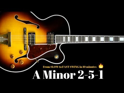 A Minor 2-5-1 Jazz Practice Backing Track // Slow - Medium - Fast Swing