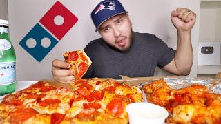 Gettin' Crazy for DOMINOS PIZZA & WINGS MUKBANG