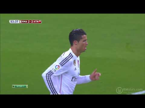 2014-15, Copa del Rey, 1-8 2nd game, Real Madrid 2-2 Atletico Madrid, 2-2 Ronaldo
