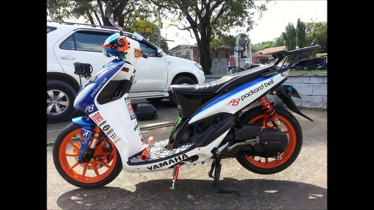 modifikasi mio sporty simple  tahun ini