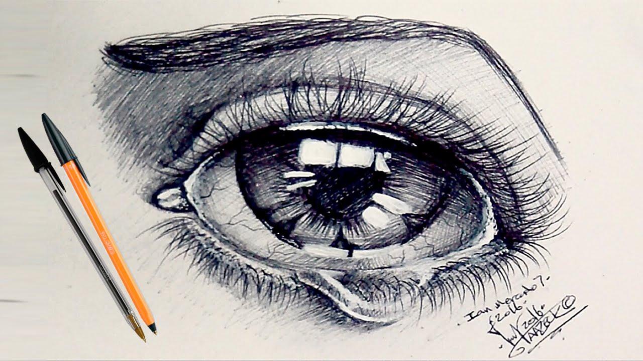 Se puede dibujar con bolgrafo negro o pluma negra Como dibujar