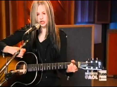 Avril Lavigne - Don't Tell Me [acoustic] live [Sessions @ AOL] [April 12, 2004]  [HQ]