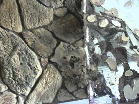 Ugly fake stone removal - YouTube